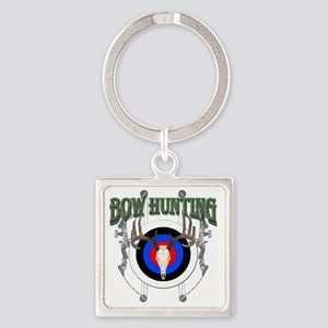 Bow Hunting Square Keychain